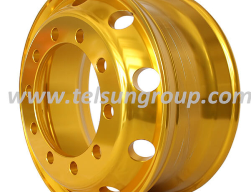 Customized Golden Colour Wheels 22.5×8.25